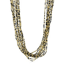 Murano Glass Fluidity 50cm Multi-Strand Necklace Sterling Silver