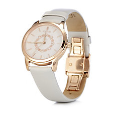 Clogau 9ct Rose Gold & Stainless Steel Watch with Leather Strap