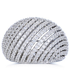 Michelle Mone for Diamonique 2.4ct tw Domed Cocktail Ring Sterling Silver