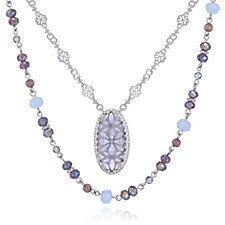 Lonna & Lilly Nested Crystal Pendant 2 in 1 107cm Necklace