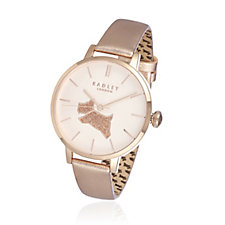 Radley London Sparkly Dog Leather Strap Watch