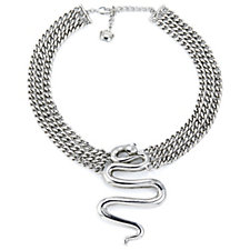 Butler & Wilson Curved Snake Thick Chain 43cm Necklace