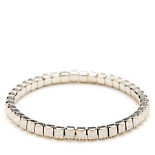 Crystal Glamour with Swarovski Crystals Princess Cut Stretch Bracelet