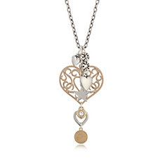 Bibi Bijoux Heart & Multi Charm Drop 37cm Necklace with 10cm Extender