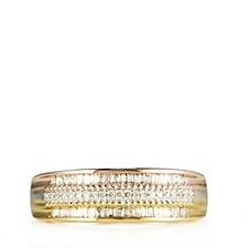 Lisa Snowdon Diamond 4 Row Tri Colour Band Ring Sterling Silver