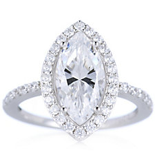 Michelle Mone for Diamonique 3.5ct tw Halo Ring Sterling Silver