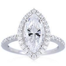 Michelle Mone for Diamonique 3.5ct tw Halo Ring Sterling Silver