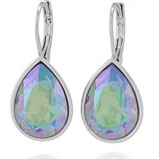 Aurora Swarovski Crystal Pear Drop Leverback Earrings