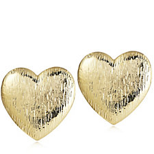 Frank Usher Heart Clip On Earrings