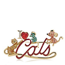 Butler & Wilson I Love Cats Brooch
