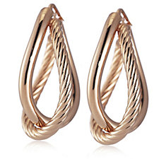 Bronzo Italia Textured Hoop Earrings