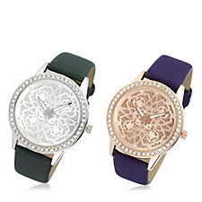 Gossip Set of 2 Crystal Bezel Watches
