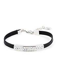 Aurora Swarovski Crystal Leather Bracelet