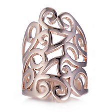 Bronzo Italia Scroll Design Ring