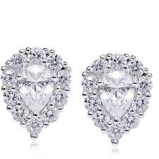 Diamonique 2.5ct tw Pear Stud Earrings Sterling Silver