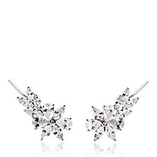Michelle Mone for Diamonique 6ct tw Mixed Cut Earclimbers Sterling Silver