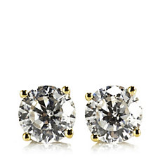 Diamonique 1ct tw 100 Facet Solitaire Stud Earrings 9ct Gold