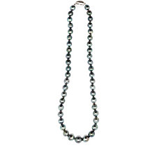 Honora 8-11mm Cultured Tahitian Pearl 45cm Necklace Sterling Silver