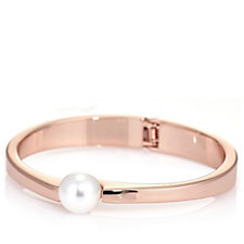 Nour Solo Simulated Pearl Bangle