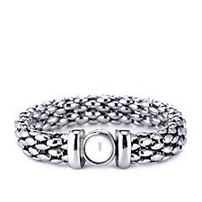 Nour Faux Pearl Tube Chain 22.5cm Bracelet w/ Magnetic Clasp