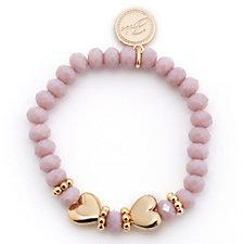 Bibi Bijoux Resin Bead & Heart Stretch Bracelet