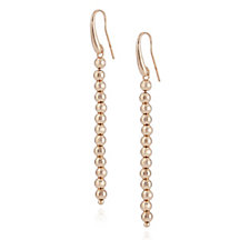 307133 - Bronzo Italia Faceted Bead Drop Earrings
