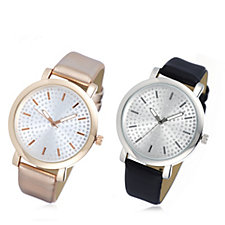 Gossip Set of 2 Pave Dial Watches