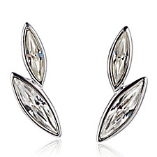 Aurora Swarovski Crystal Double Drop Stud Earrings