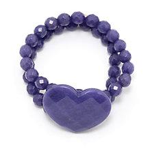Lola Rose Semi Precious Heart Bracelet