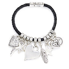 321533 - Bibi Bijoux Leather Multi Charm Bracelet