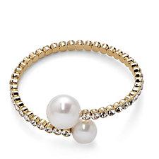 Frank Usher Simulated Pearl & Crystal Bracelet