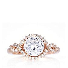 Michelle Mone for Diamonique 2ct tw Blossom Solitaire Ring Sterling Silver