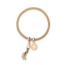 Buckley Carnaby Semi Precious Stone & Tassel Mesh Bracelet