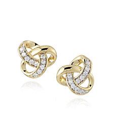 Diamonique 0.2ct tw Knot Earrings Sterling Silver