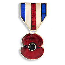 The Poppy Collection Enamel Ceremonial Brooch by Buckley London