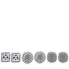 Nour Pave Crystal Set of 3 Stud Earrings