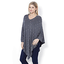 Frank Usher Faux Pearl & Bead Poncho