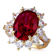 Elizabeth Taylor 5ct tw 'The Perfect' Simulated Ruby Ring