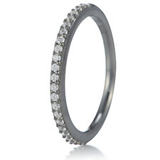 Diamonique 0.2ct tw Graduated Colour Fine Eternity Ring Sterling Silver