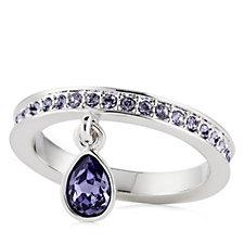 Aurora Swarovski Crystal Stackable Charm Ring