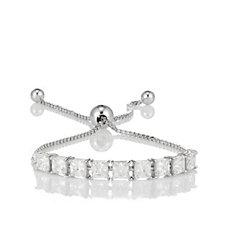 Diamonique 6.8ct tw Friendship Bracelet Sterling Silver