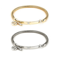 Buckley Set of 2 Bar Charm Mesh Bracelets