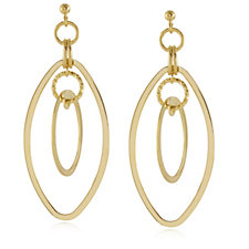 K by Kelly Hoppen Miami Collection Circle Drop Earrings Bronze