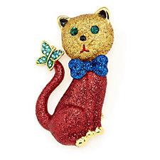 319335 - Butler & Wilson Crystal Cat Brooch
