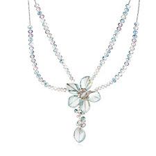 331335 - Butler & Wilson Glass Flower 39cm Necklace