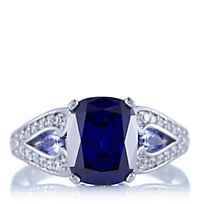 Diamonique by Tova 4.8ct tw Simulated Gemstone Ring Sterling Silver