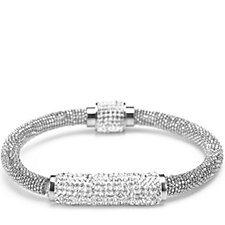 Frank Usher Mesh Sparkle Crystal Magnetic Bracelet