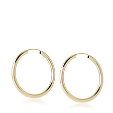 9ct Gold Delicate Everyday Hoop Earrings