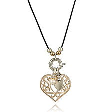 308536 - Bibi Bijoux Large Heart Cord 45cm Necklace