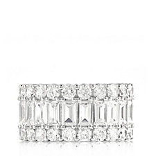 Diamonique 10ct tw Eternity Wide Band Ring Sterling Silver